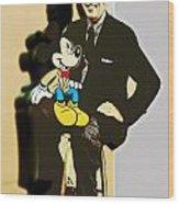 Mickey And Walt Wood Print