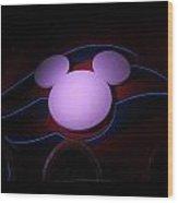 Mickey At Sea 4 Wood Print