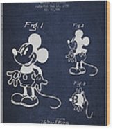 Mickey Mouse Patent Drawing From 1930 Wood Print by Aged Pixel