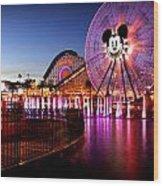 Mickey's Water Wheel Wood Print