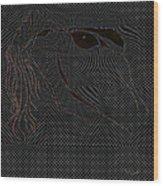 Microdot Wood Print