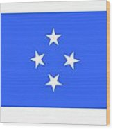 Micronesia Flag Wood Print