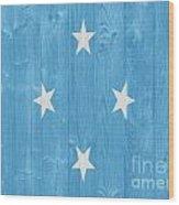 Micronesia Flag Wood Print