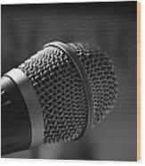 Microphone Wood Print