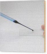 Microscope Slide Preparation Wood Print