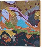 Microscopic Life Wood Print