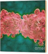 Microscopic View Of A Leukemia Cell Wood Print