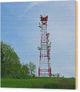 Microwave Tower Wood Print