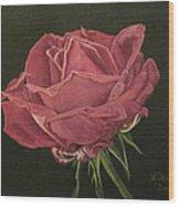 Mid Bloom Wood Print