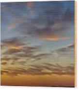 Mid-continent Sunrise Wood Print