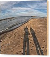 Mid Dec Day At The Beach...who Can Argue At Presque Isle State Park Series Wood Print