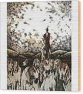 Mid Hunt Wood Print