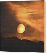 Mid-july Sunrise Wood Print