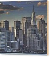 Mid Manhattan In Hdr Wood Print