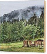Midday Mist Wood Print