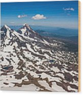 Middle And North Sister Wood Print