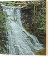 Middle Branch Falls Upper Tier #1 Wood Print
