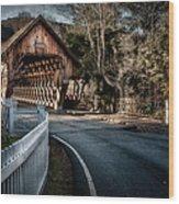 Middle Bridge - Woodstock Vermont Wood Print