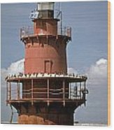 Middle Ground Lighthouse Wood Print