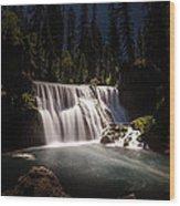 Middle Mccloud Falls Wood Print