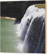 Middle Waterfalls In Letchworth State Park II Wood Print