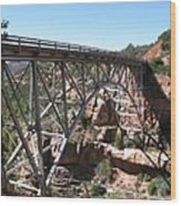 Midgley Bridge Over Oak Creek Canyon Wood Print