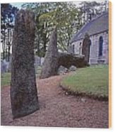 Midmar Stone Circle Wood Print