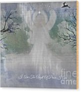 Midnight Angel Of Peace Wood Print by Sherri  Of Palm Springs