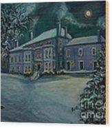 Midnight At The  Lyman Estate Wood Print