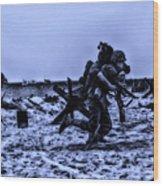Midnight Battle Stay Close Wood Print