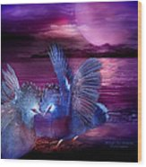 Midnight Blue Rendevous Wood Print