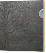 Midnight Calm Wood Print