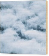 Midnight Clouds  Wood Print