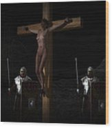 Midnight Crucifixion Wood Print