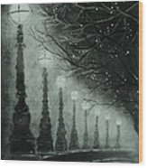 Midnight Dreary Wood Print by Carla Carson