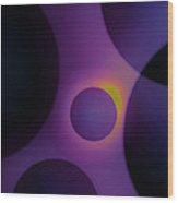 Midnight Droplets Wood Print