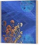Midnight Flowers Wood Print