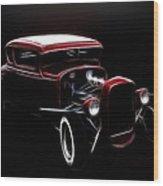 Midnight Hot Rod Red Wood Print