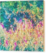 Midnight In The Garden Wood Print