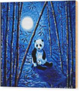 Midnight Lullaby In A Bamboo Forest Wood Print
