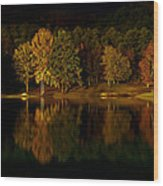 Midnight On The Lake Wood Print