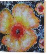 Midnight Poppies Wood Print