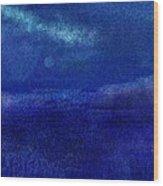 Midnight Sea Passage Wood Print