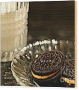 Midnight Snack Wood Print by Lois Bryan