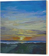 Midnight Sun Wood Print by Michael Creese