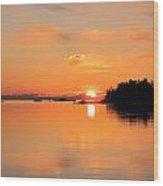 Midnight Sun Wood Print