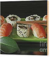 Midnight Sushi Indulgence Wood Print