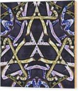 Midnight Tetraktys Wood Print