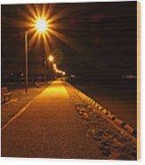 Midnight Walk Wood Print