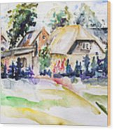 Midsummer In The Mecklenburg Village Nossentin Wood Print